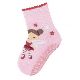 """Baby Mädchen Anti-Rutsch-Socken Glitzer Fliesen Flitzer Air Strümpfe mit rutschfester gefütterter ABS-Sohle, rosa """"Fee"""" - 8131912"""