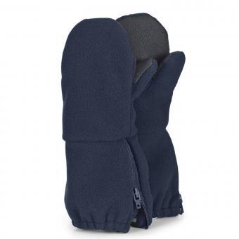 Jungen Handschuhe wasserabweisend Fleece Fäustel mit Reißverschluss Thinsulate- und Baumwollfleecefutter einfarbig, marineblau - 4321906