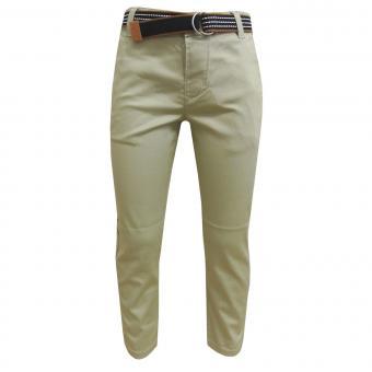 Jungen festliche Hose Stoffhose mit Gürtel, beige - 3503bei