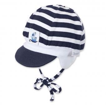 Schildmütze Baby zum Binden Jungen, dunkelblau - 1601715