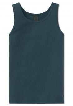 Jungen Unterhemd aus Long Life Cotton, blau - 161396
