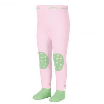 "Mädchen Baby Strumpfhose mit ABS-Noppen Krabbelstrumpfhose mit Po-Motiv ""Fee"", rosa, hellgrün – 8652004"
