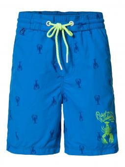 Badehose Badeshorts Jungen Krebsdruck, blau B-SS17-SWS962