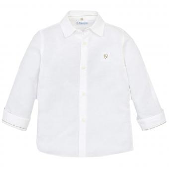 Mayoral festliches langarm Jungenhemd, weiß - 141w