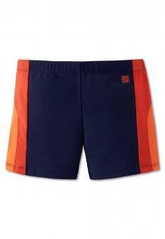 Jungen Retro Badehose, orange - 160619