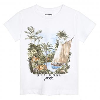 "Mayoral Jungen Sommer T-shirt ""National Park"", weiß - 3050"