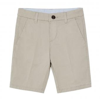 Jungen kurze Hose Chino Bermuda, beige - 202b