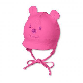 Sterntaler Baby Mädchenmütze mit Schirm Erstlingsmütze Teddy zum Binden mit Ohrenschutz und Innenfutter UV-Schutz 50+, magenta - 4001466-magen