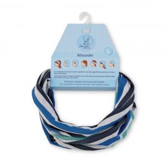 Halstuch Loop Allrounder für Jungen gestreift, blau-grau - 1521852