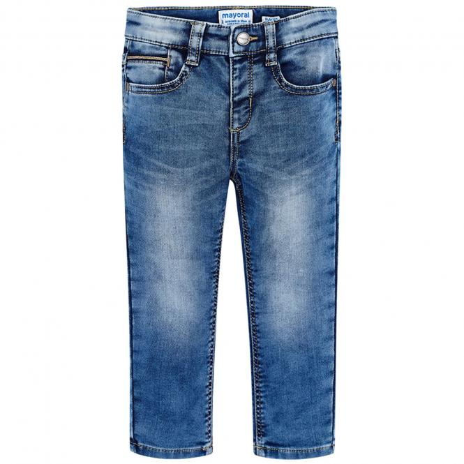 Jungen Hose Jeanshose Slim Fit, blau - 4.516b