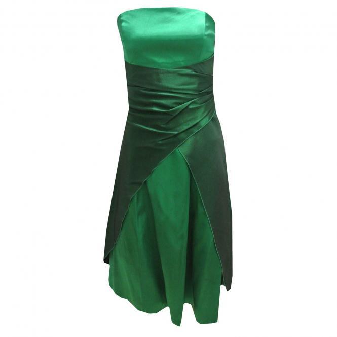 Festkleid für Mädchen mit Stola und zum Binden, grün