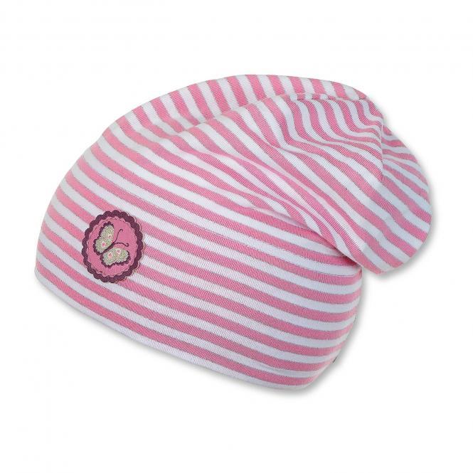 Beanie Mütze Mädchen gestreift, mandelbluete - 1411863