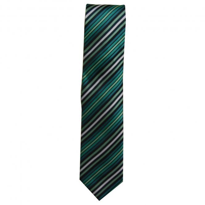 Krawatte Schlips Jungen gestreift, grün