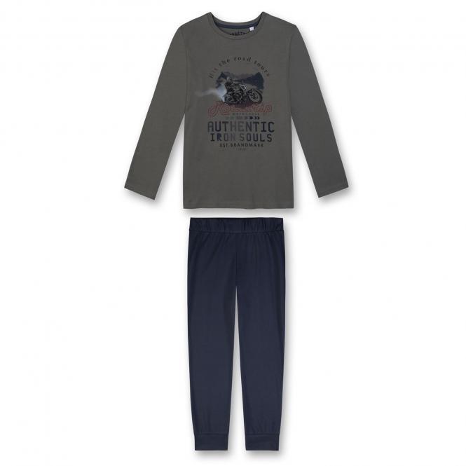 Jungen Schlafanzug Pyjama Nachtwäsche, grün - 244255