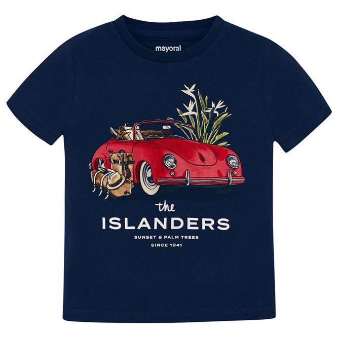 Mayoral Jungen T-shirt kurzarm mit Fahrzeug-Motiv, dunkelblau - 3.027db