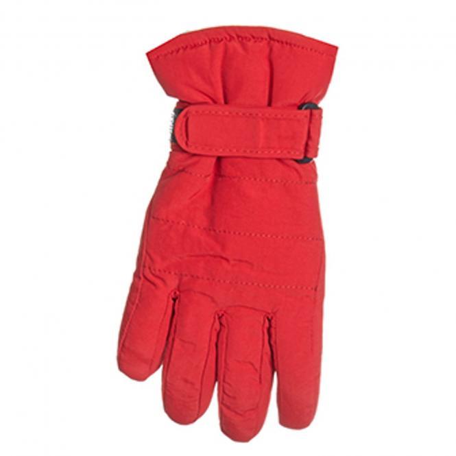 Fingerhandschuhe Mädchen gefüttert, wasserfest, rot - 9507507r