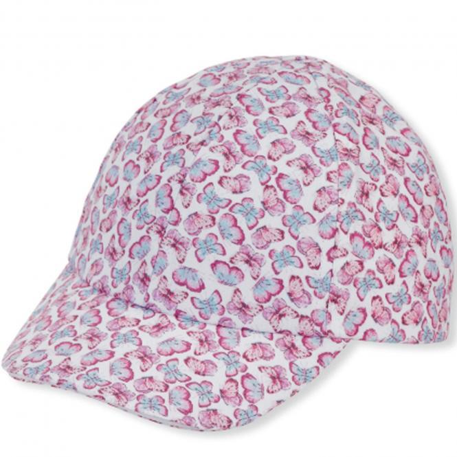 "Mädchen Kinder Baseball Cap  UVS 50+ ""Schmetterling"", pink - 1412132"