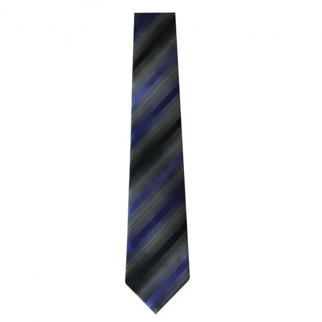 Jungen Schlips Krawatte zum binden gestreift, blau - 40097