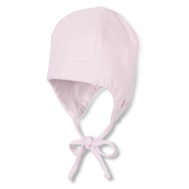 Baby Mädchenmütze zum Binden Ohrenschutz, rosa - 4001455