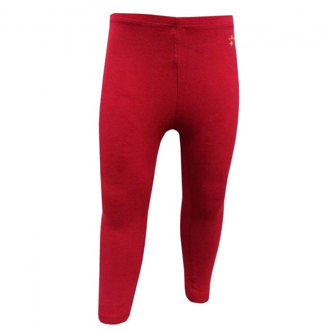 Baby Mädchen Leggings lang, rot