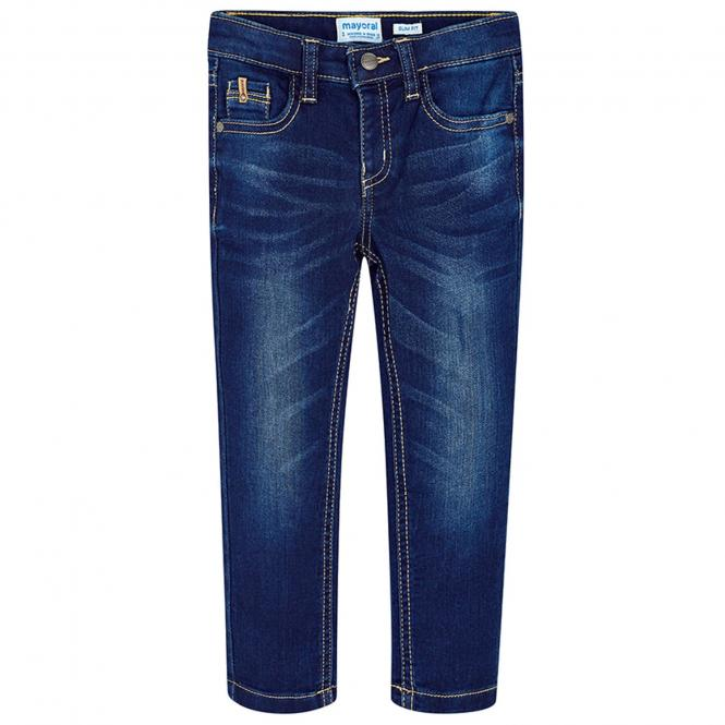 Jungen Jeans Slim Fit, dunkelblau - 3534