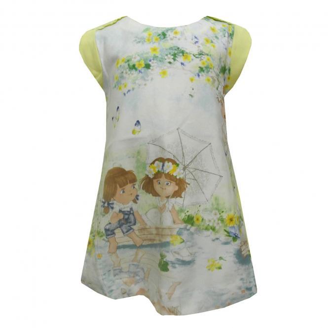 Baby Mädchen Kleid ärmellos Frühlingskleid Tunika, gelb