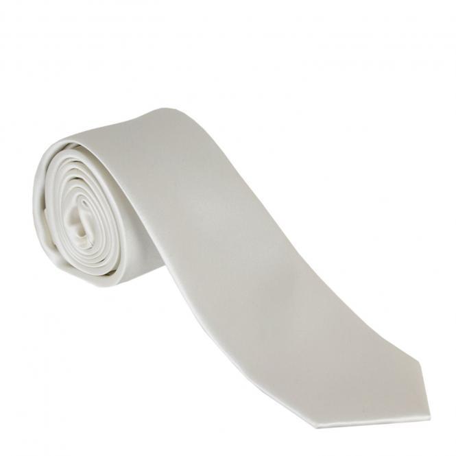 Jungen Schlips Krawatte zum binden einfarbig, weiß - 996440weis