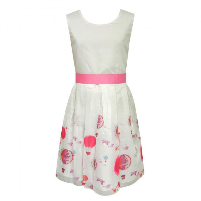 Mädchen festliches Kleid Abendkleid Heißluftballon, rosa - 971342