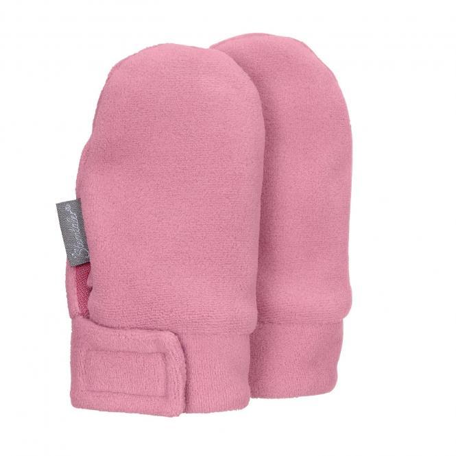 Baby Mädchen Fäustlinge Handschuhe Fleece mit Klettverschluss ohne Finger, perlrosa - 4301400
