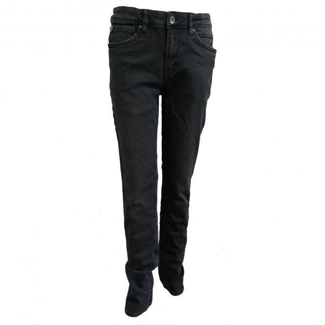 Jungen Garcia Jeans 350 Lazlo regular fit Baumwolljeans Hose mit verstellbarem Bund, dark used dunkelgrau Coal Denim – 2720