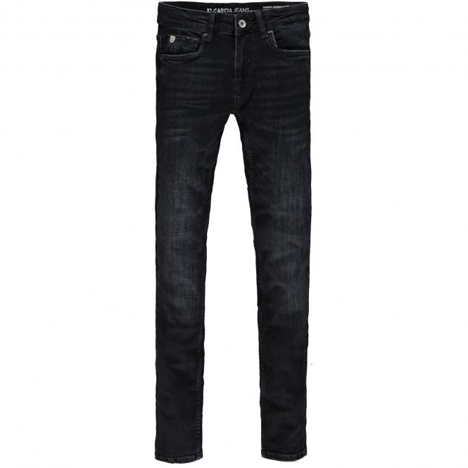 Jungen Hose Jeans verstellbarer Bund Xandro Superslim Fiit 320-3025 Flow Denim Dark Used