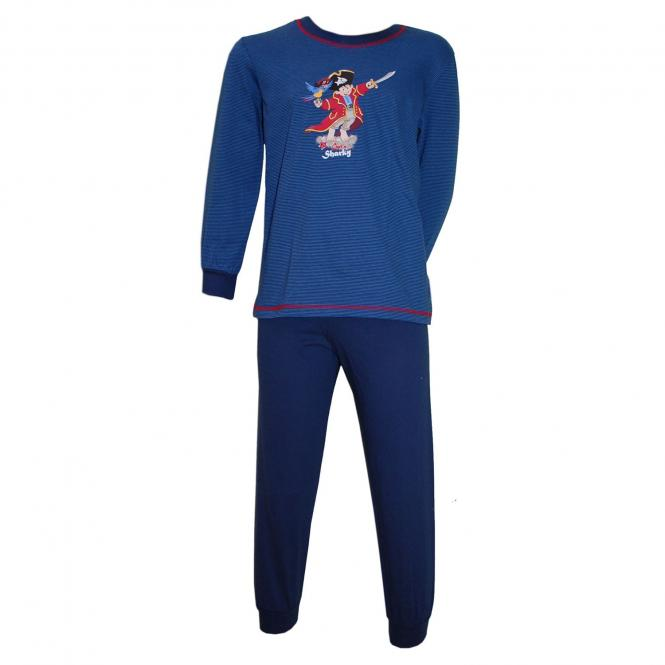 Captn Sharky Jungen Langarm Schlafanzug, blau