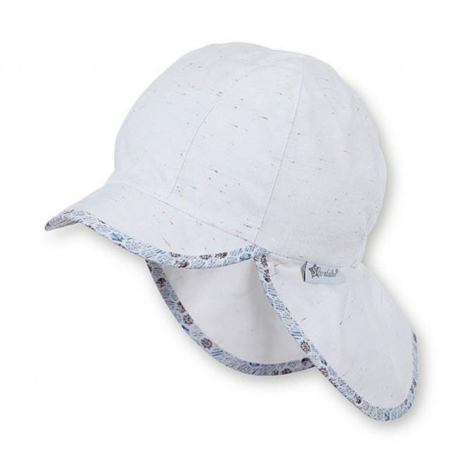 Jungen Schirmmütze, Sommermütze mit Nackenschutz, UV-Schutz 50+, weiß - 1611935