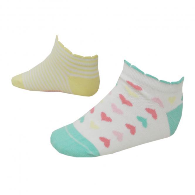 Sneaker Socken Mädchen 2er-Pack, gelb