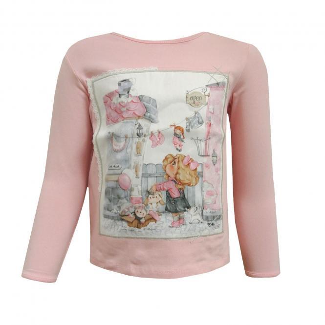 Baby Mädchen T-Shirt lang, pink