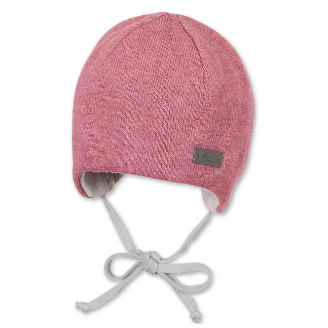 Baby Mädchen Mütze gefüttert Erstlingsmütze Wintermütze zum Binden, rosa - 4501847