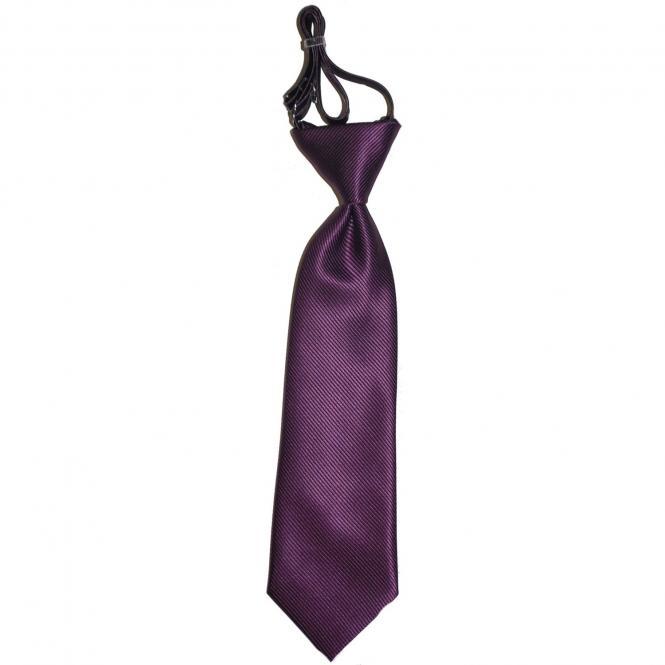 Jungen Krawatte Schlips gebunden zum verstellen, lila