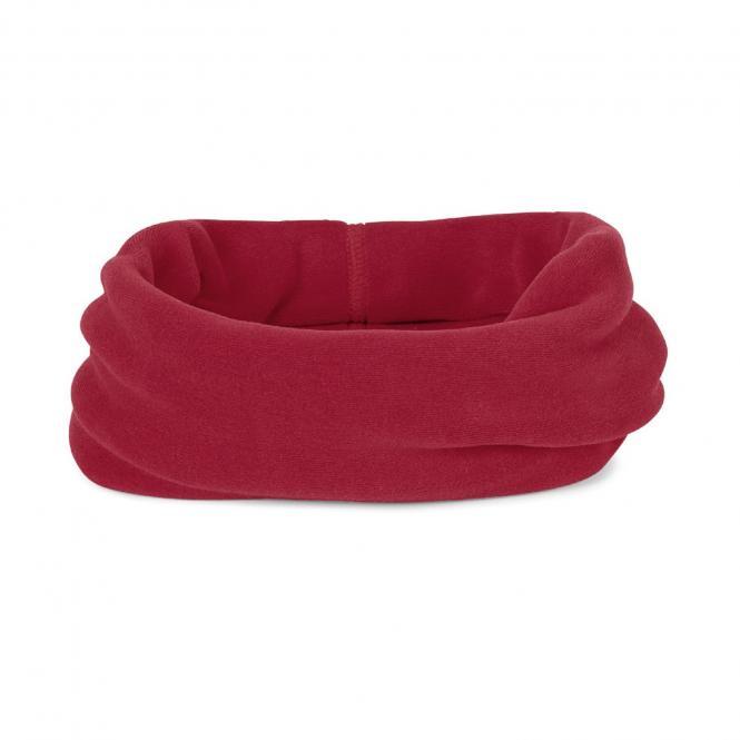 Baby Mädchen Allrounder Halstuch Schal Fleece einfarbig, rot   - 4531450