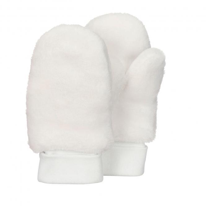 Baby Mädchen Fäustlinge Handschuhe Plüsch, beige - 4301421