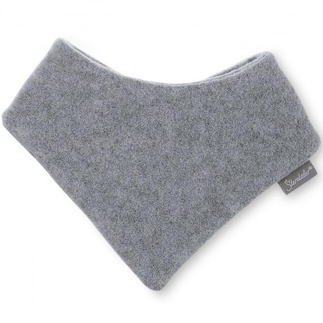 Baby Mädchen Jungen Dreieckstuch Halstuch Klettverschluss Fleece einfarbig, silbergrau mel.  - 4101400