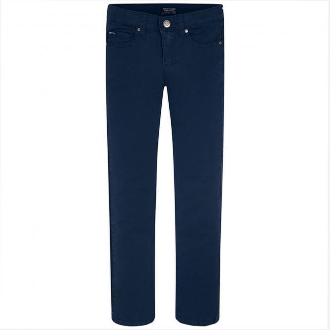 Jungen Stoffhose Regular Fit, dunkelblau - 520