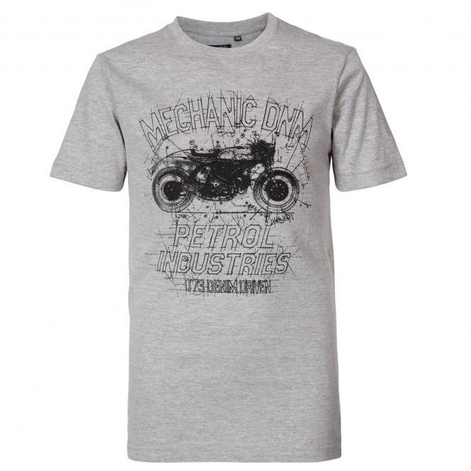 Jungen T-Shirt, Kurzarmshirt, Petrol Ind., grau Motorrad - TSR678
