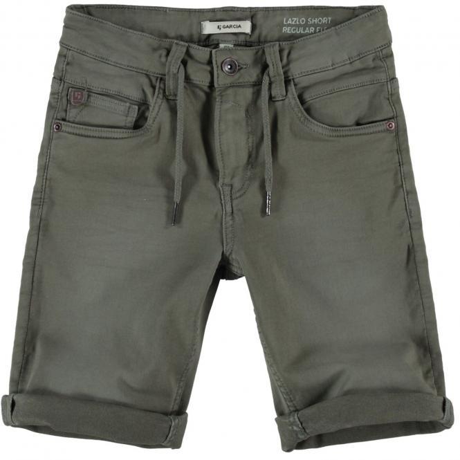 """Jungen Jeansshorts Sommerhose kurz 5-Pocket-Jeans """"Bund mit Bändern"""", grün - GS130308_Lazlo boys"""