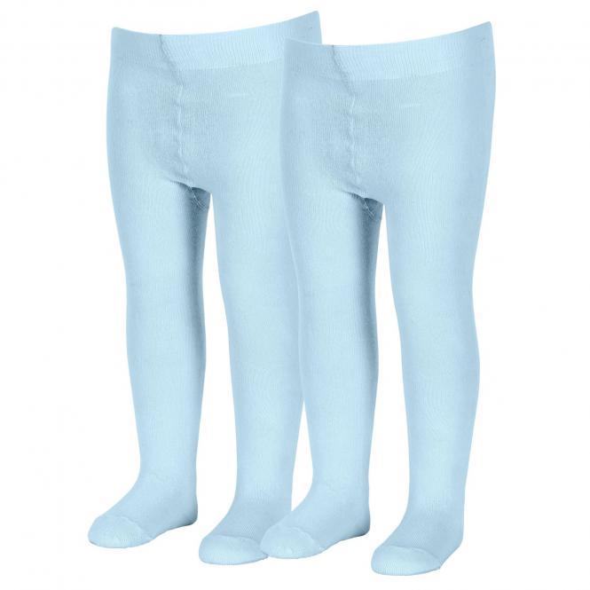Jungen Strumpfhose Doppelpack einfarbig hellbalu, bleu - 8601730