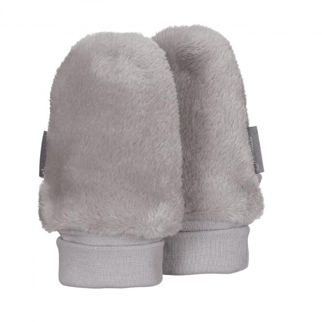 Baby Jungen Faust Handschuhe ohne Finger Plüsch, grau - 4301401