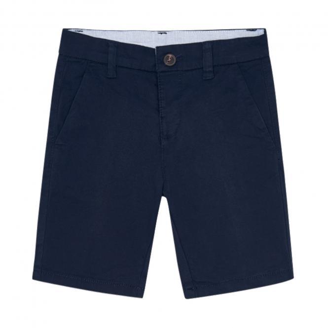 Jungen kurze Hose Chino Bermuda, dunkelblau - 202db