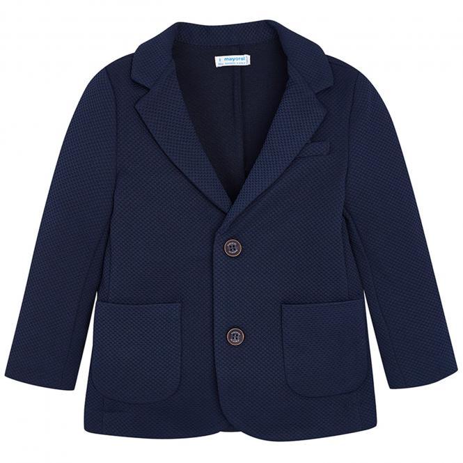 Jungen Blazer festliche Jacke Anzugsjacke, blau - 3448