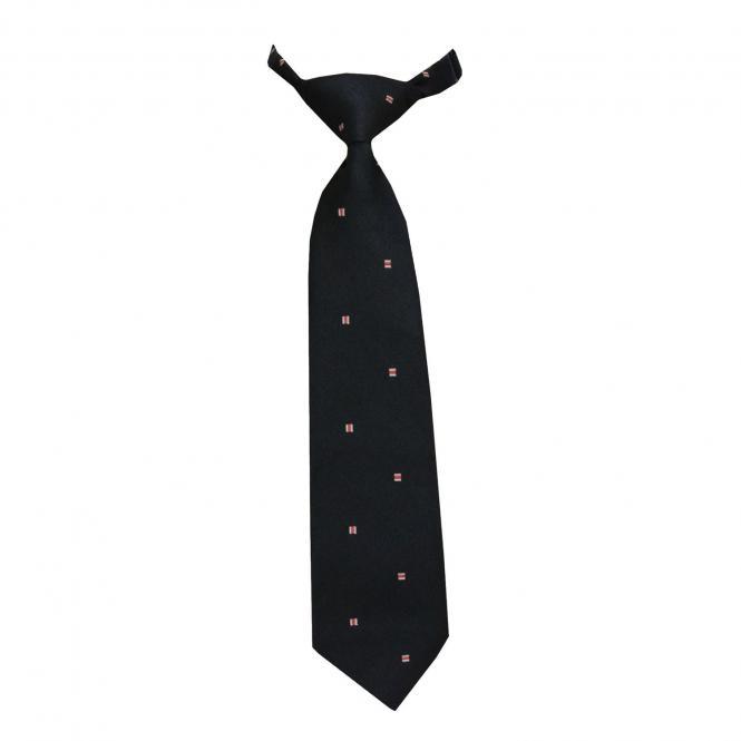 Jungen Krawatte mit Klettverschluss, dunkelblau