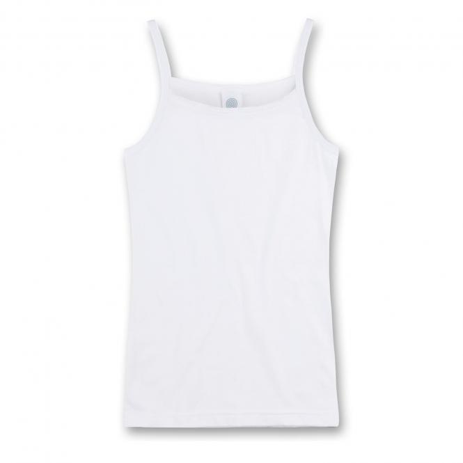 Sanetta Mädchen Unterhemd mit Spitze weiß - 344662