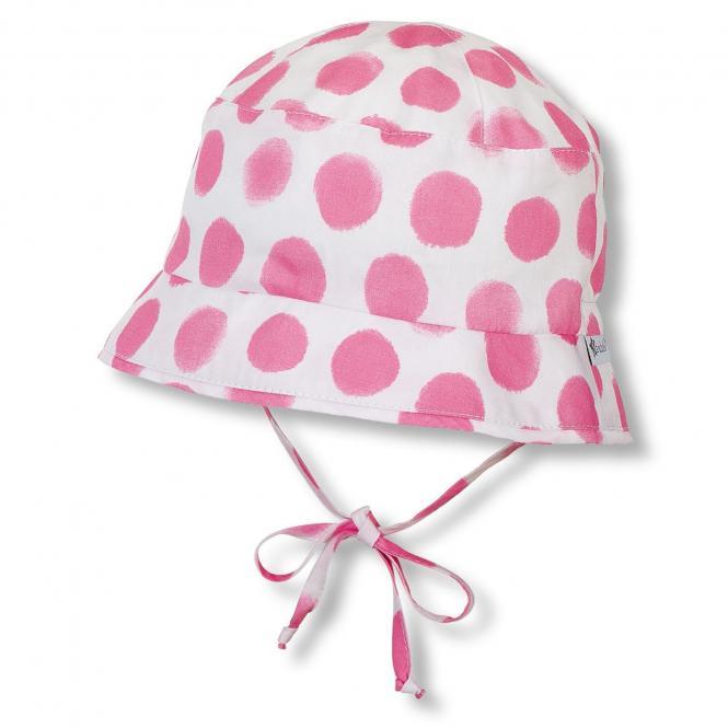 Mädchen Sommerhut zum Binden LSF 50+, weiß pink - 1411905